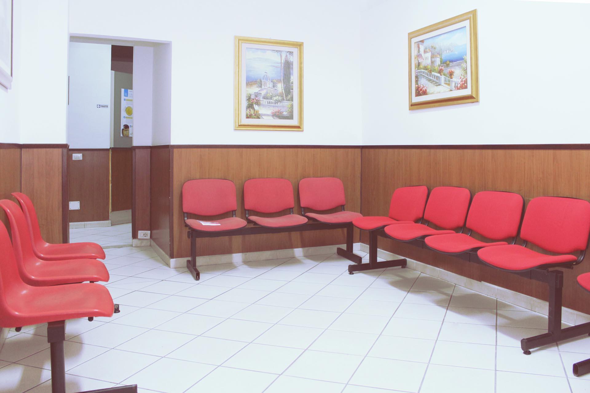 Sala di attesa AID Caserta